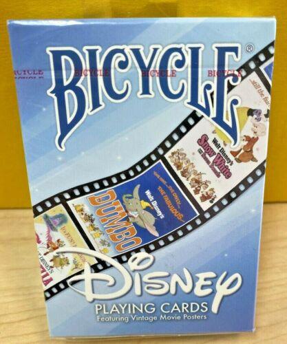 Disney Vintage Movie Poster Bicycle Playing Card 2015 New Sealed Dumbo Peter Pan