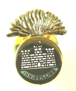 Royal Inniskilling Fusiliers classical Gold Plated lapel Badge