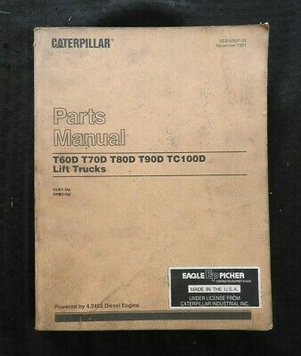 Caterpillar T60d T70d T80d T90d Tc100d Lift Truck Parts Manual Catalog 5lb1 5pb1