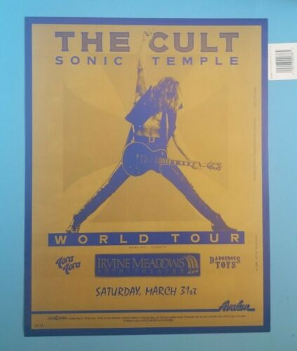 Rare - The Cult Sonic Temple World Tour Poster Irvine Meadows Concert Poster 90