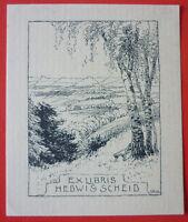 Exlibris, Ex Libris , Hedwig Scheid ,paesaggio -  - ebay.it