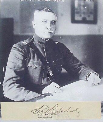 World War I US General Samuel Rockenbach 'Father U.S Armor 'Tank' Autograph Rare