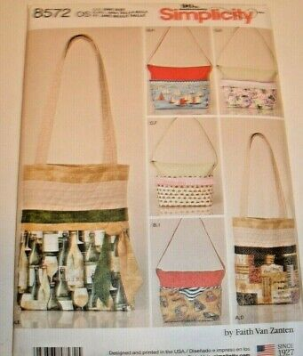Simplicity pattern 8572 Bags Purse Tote Quilted with changea