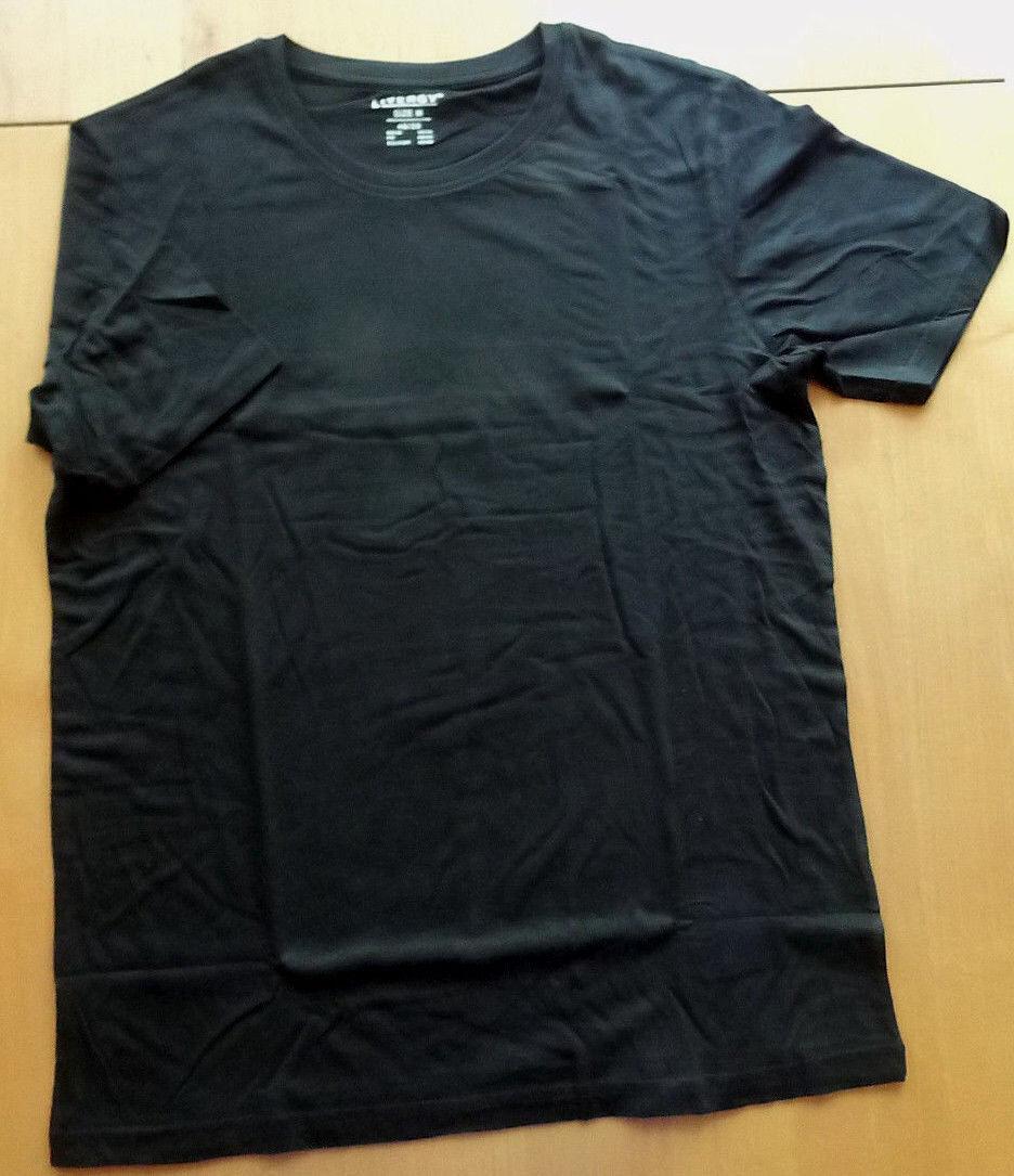 Herren T-Shirt schwarz Gr. L 52/54 Basic NEU Sommer Unterziehshirt Klassiker