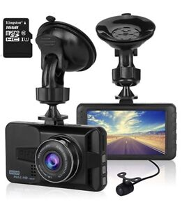 brand new dash cam with 16gb card rear cam