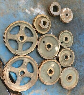 Metal Lathe Change Gear Set Lot 14dp 78 Bore Machinist Tool Box Find