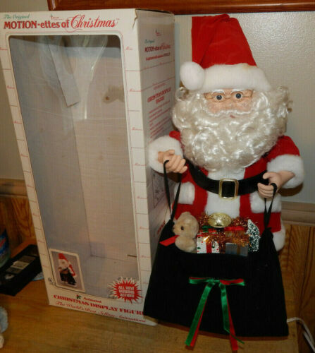 """Vintage Telco Santa Claus Motionette Animated with Bending Action 27"""" Tall"""
