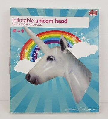 DCI Inflatable Unicorn Horse Head Wall Decor Ornament w/ Repair Kit - Inflatable Unicorn Head