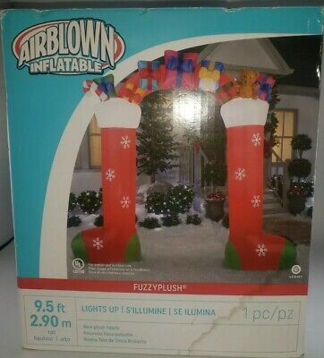 New 9.5' Airblown Inflatable Christmas Stockings with Gifts Archway Yard Decor