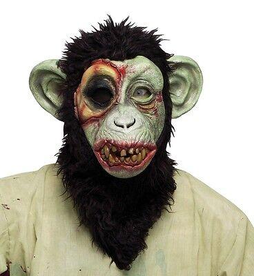 Chimpanzee Mask (Zombie Chimp Chimpanzee Monkey Full Overhead Mask Adult Costume)