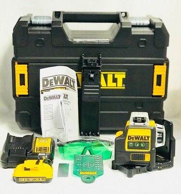 Dewalt DW089LG 12-Volt 3 x 360-Degree Lit-Ion Green Beam Line Laser NEW - NO TAX