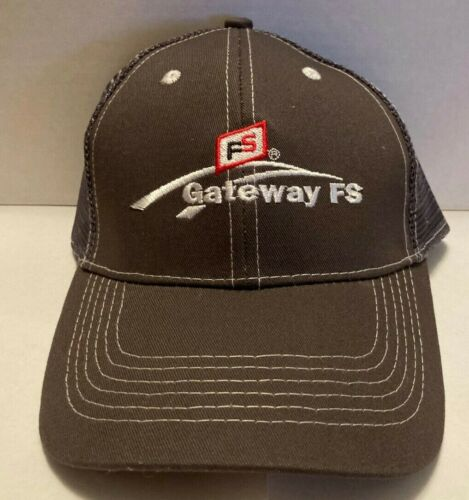 NEW Gateway FS Farm Service Hat Cap Trucker Mesh Strapback NWOT GRAY