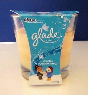 NEW NOS Glade Glass Jar Candle:Frosted Cookie Party 3.8 oz.