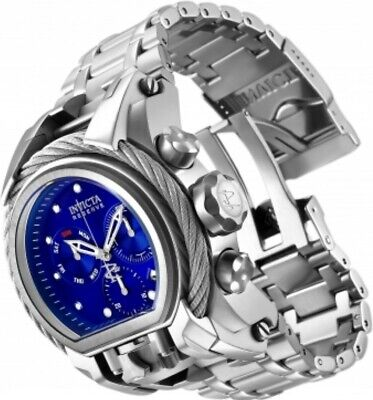 Invicta Reserve Cable Bolt Zeus Magnum Dual Swiss Movement Watch Blue Dial