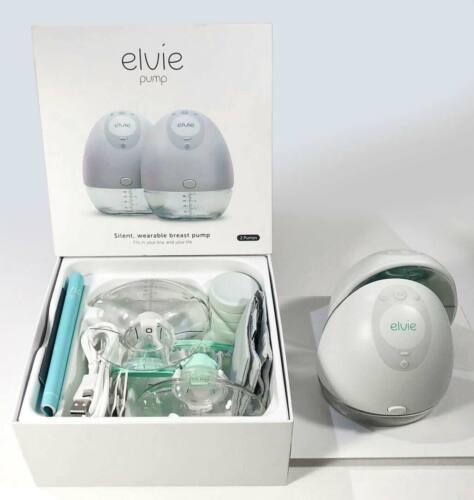 elvie DOUBLE Pump EP01 Silent Wearable Bluetooth Electric Breast Pump READ DESCR