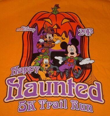 Disney runDisney 2013 Halloween Happy Haunted 5k Trail Run T-Shirt - Adult Sz S