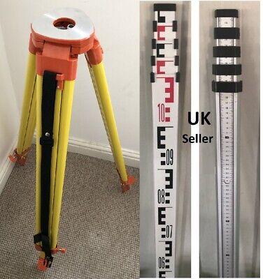 Aluminium Tripod 5m Survey Levelling Staff For Laser Level Dumpy Construction