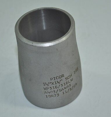 Picor Stainless Steel 1.5x1.25 Concentric Reducer - Butt Weld - Wp316316lw