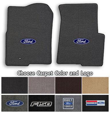 Ford F-150 2pc Classic Loop Carpet Floor Mats - Choose Color & Logo