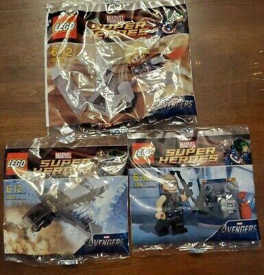 Lego Marvel Polybag Lot (30162, 30163, 30165)