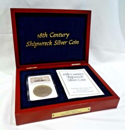 18th Century Shipwreck Silver Coin in Box