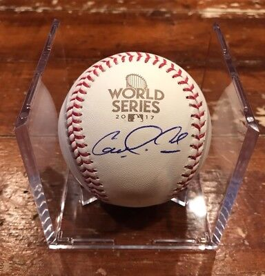 Carlos Correa Autographed 2017 World Series Baseball ROMLB Houston Astros MLB