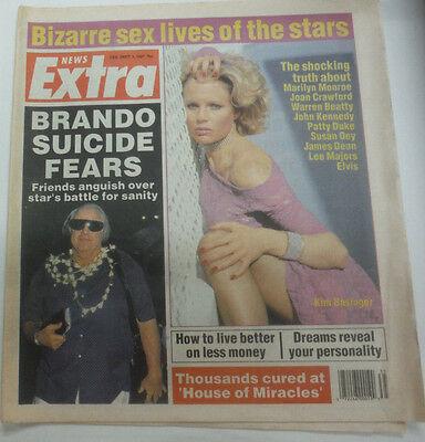 News Extra Magazine Brando Suicide Fears   Kim Basinger September 1987 070715R