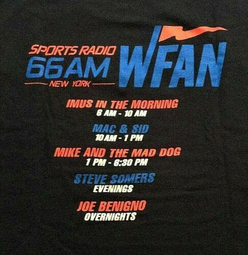 "Vintage ""WFAN 66AM"" Sports Talk Radio New York Tee Shirt, XL"