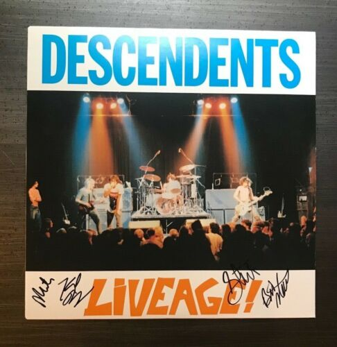 * THE DESCENDENTS * signed vinyl album * LIVEAGE * MILO, STEVE, BILL & KARL * 1