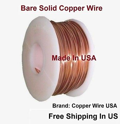 Solid Copper Round Wire ( 1 Lb. Spool  ) Choose Gauge & Temper /10 To 30 Ga