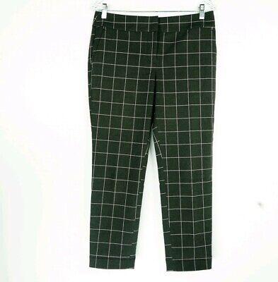 Loft Womens Size 4P Pants Plaid Checks Gray Multicolor Slim Straight Inseam 26