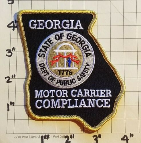 GEORGIA Dept of Public Safety Motor Carrier Compliance Patch w/Presentation Card