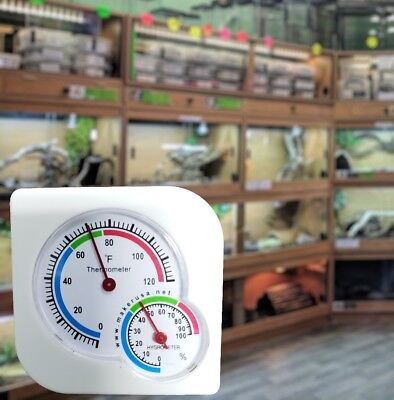 Analog Indoor/Outdoor Thermometer Hygrometer Temperature Humidity - Fahrenheit