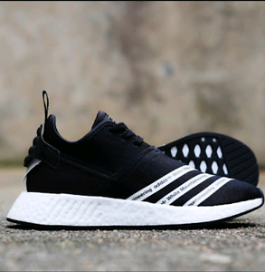 Brand New Adidas White Mountaineering NMD_R2 US 9.5 Black Southbank Melbourne City Preview