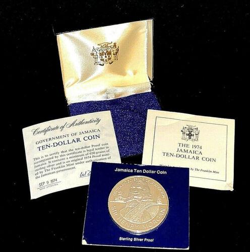 1974 $10 Jamacia 1.27 oz Silver Proof Coin • Henry Morgan .925 • In Original Box