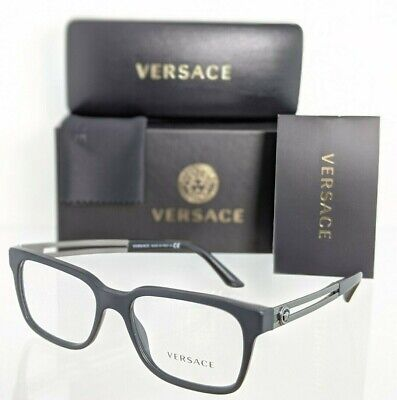 Brand New Authentic Versace Eyeglasses MOD. 3218 5122 53mm Black & Silver Frame