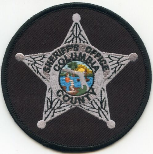 COLUMBIA COUNTY FLORIDA FL Silver Star round SHERIFF POLICE PATCH