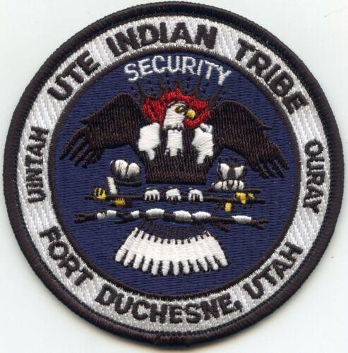 UTE INDIAN TRIBE FORT DUCHESNE UTAH UT TRIBAL SECURITY police PATCH