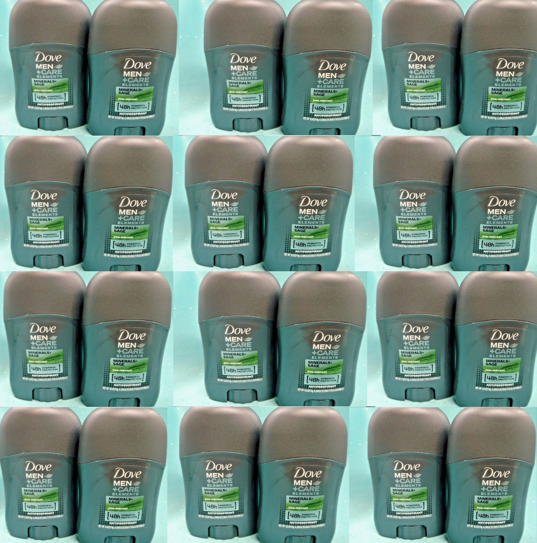 24 Dove MEN CARE ANTIPERSPIRANT 48hr Deodorant Minerals + Sa