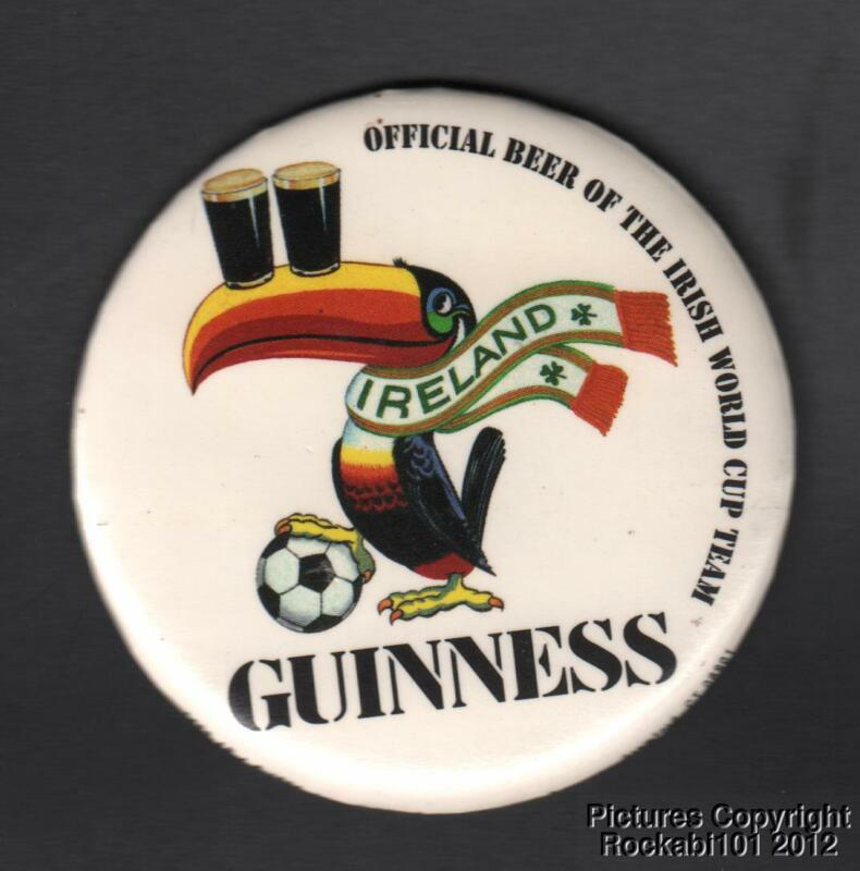 1994 Guinness Official Beer of Irish World Cup Team Pinback Pin Button