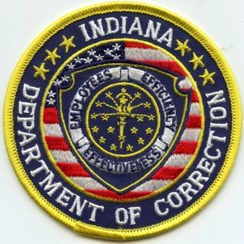INDIANA IN STATE DEPARTMENT OF CORRECTIONS Colorful DOC sheriff police PATCH