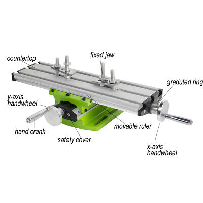 Useful Milling Compound Working Table Cross Sliding Bench Drill Vise Fixture Us