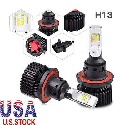 For Jeep Wrangler 2007-2018 H13 LED Headlight Hi/Low Beam Conversion Bulbs Kit