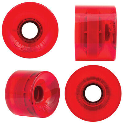 OJ III Hot Juice Wheels 60mm 78A Trans Red Skateboard Longboard Cruiser