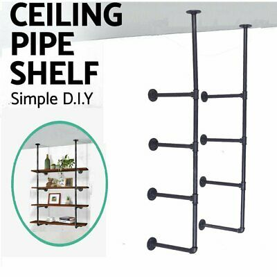 Wall Hung China (Rustic DIY Ceiling Pipe Shelf Wall Vintage Hung Bracket Industrial Wall Shelves  )