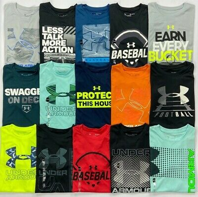 Boy's Youth Under Armour Heat Gear Loose Polyester Shirt