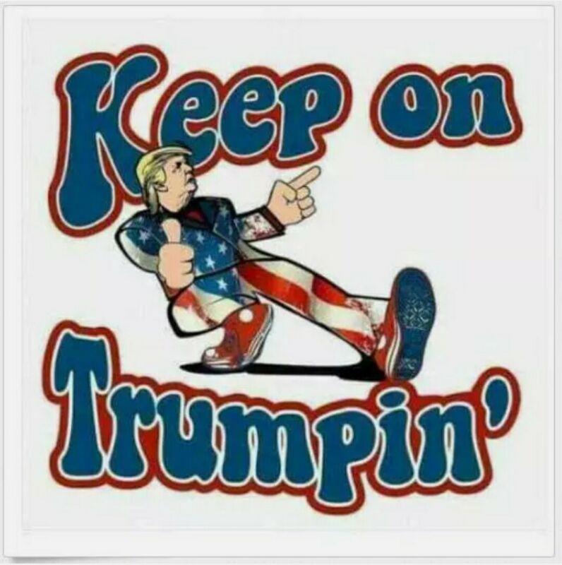 TRUMP 2020 STICKER ANTI DEMOCRAT PRESIDENT MAGA DEPLORABLE DECAL BUMPER AMERICA