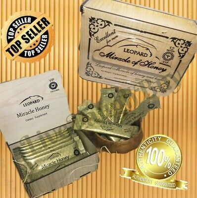 Miracle Leopard Honey for Men Sexual Natural Supplement Sachet x12 %100 Original