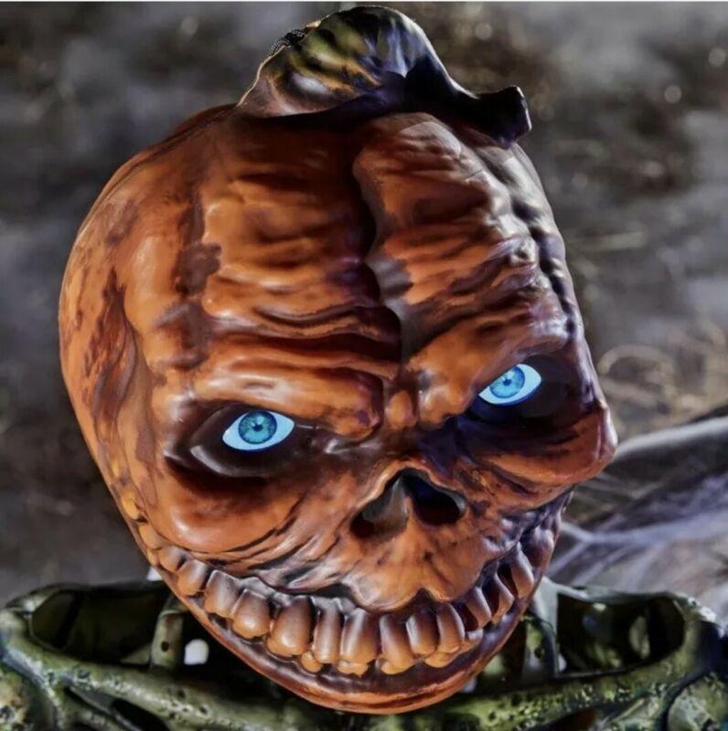 6 FT Rotten Patch Poseable Pumpkin Skeleton w/ LCD Life Eyes Halloween 2021