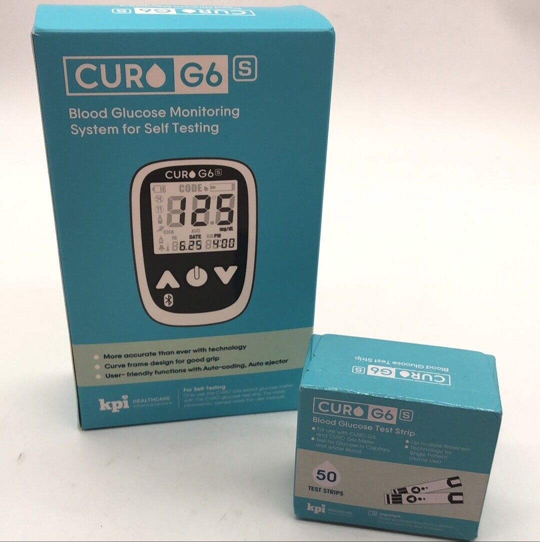 Blood Glucose Test Kit - Curo G6s - Home Self Monitor Glucos